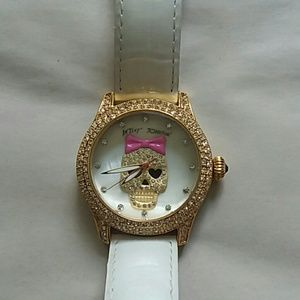 Betsey Johnson fancy skull watch EUC